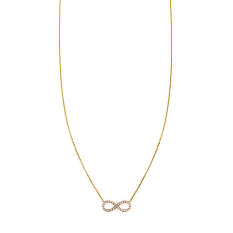 White Diamond Infinity Necklace - Phoenix Roze