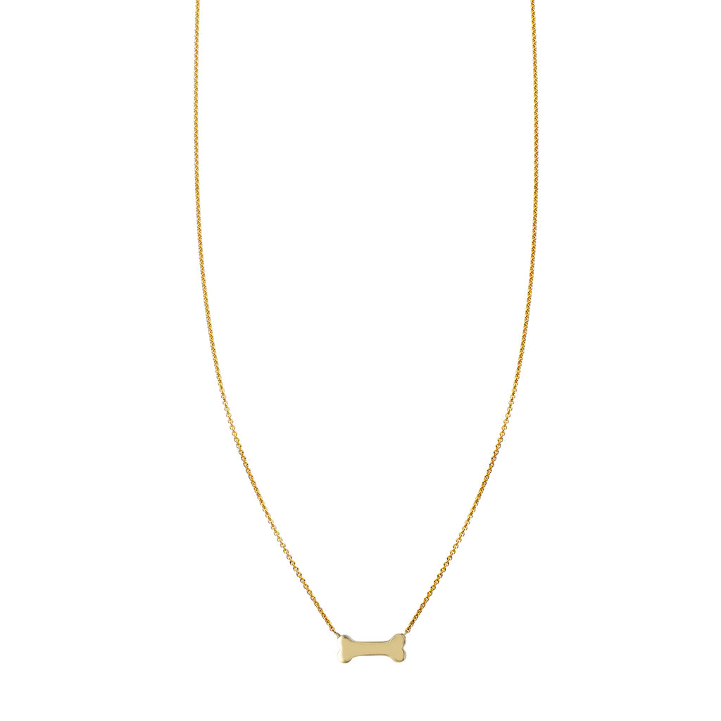 14k Gold Dog Bone Necklace