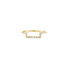 Gold Pave Outline Half Square Ring