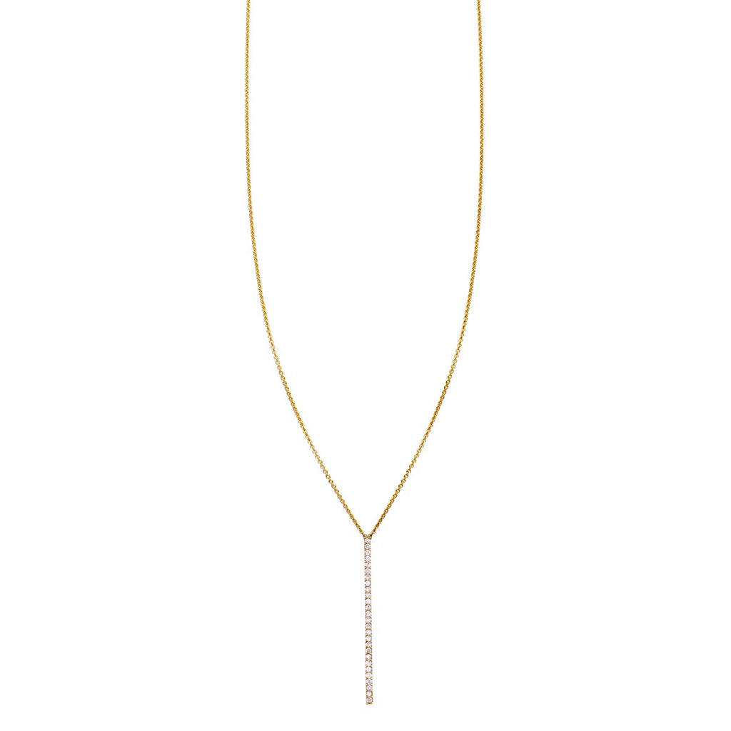 Image of a 27 Diamond Bar Gold Necklace