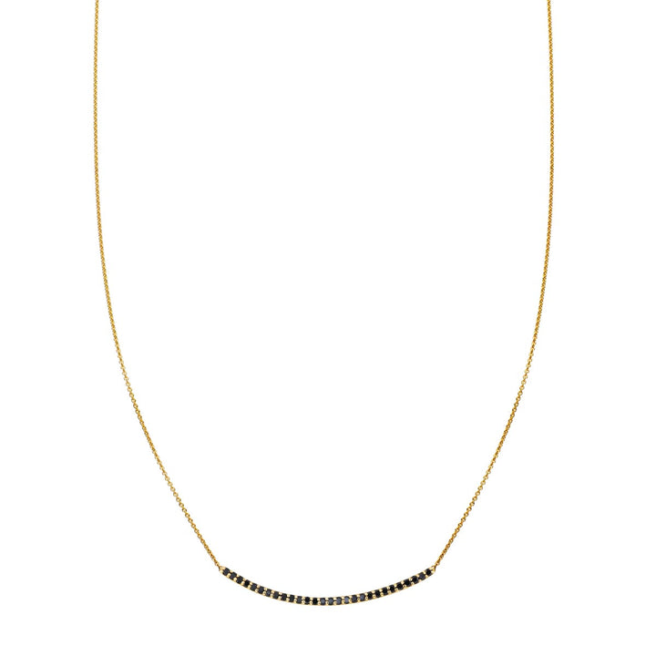 Image of 28 Black Diamond Arch Necklace
