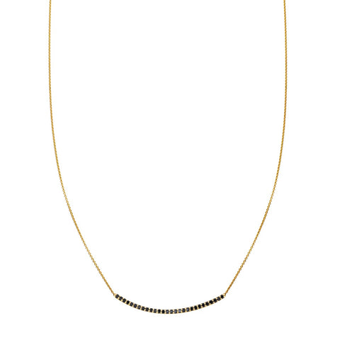 Image of a 28 Black Diamond Arch Necklace