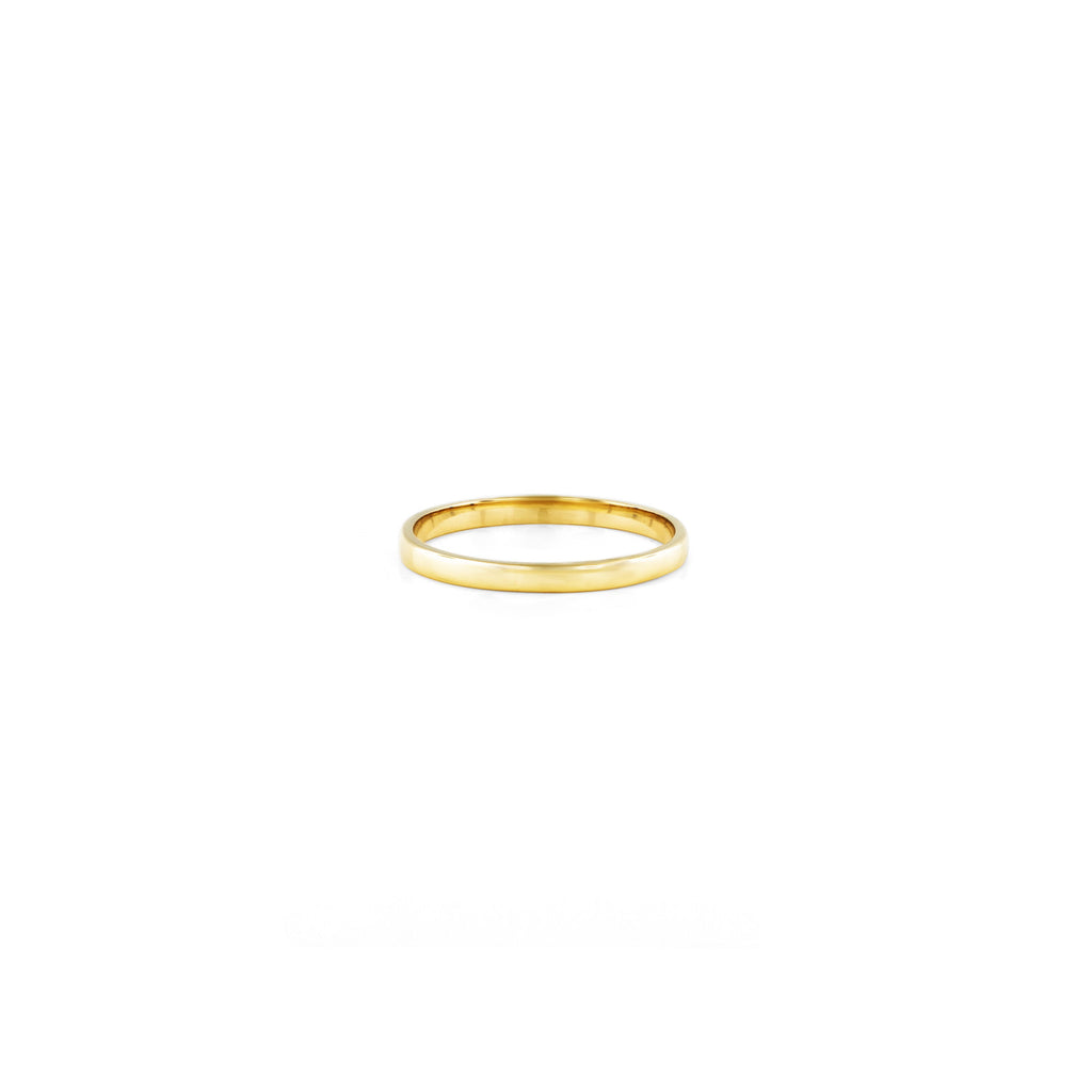 Simple gold women's wedding band