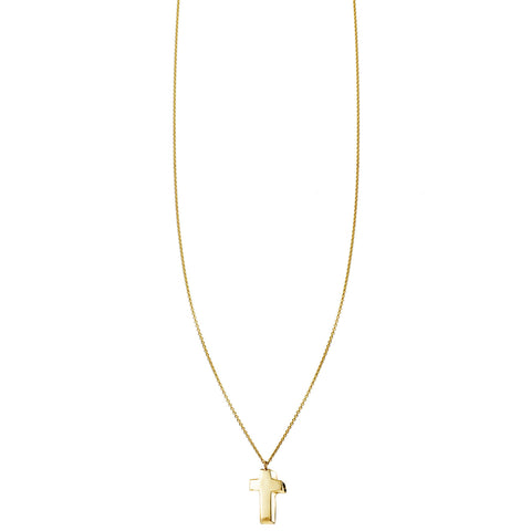 3D Cross Gold Necklace