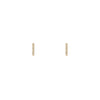 7mm Diamond Staple Stud Earrings