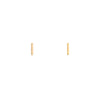 7mm Gold Staple Stud Earrings