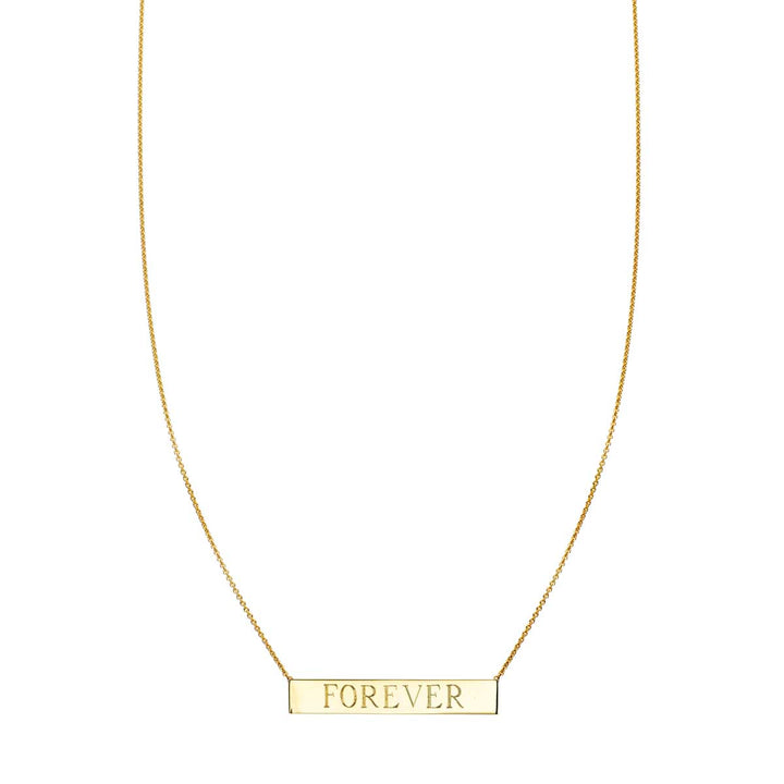 Image of Gold Personalized Nameplate Bar Necklace