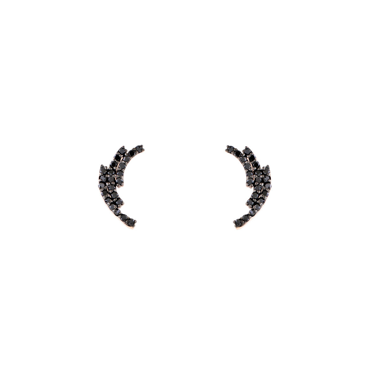 Black Diamond Laurel Earrings - Phoenix Roze