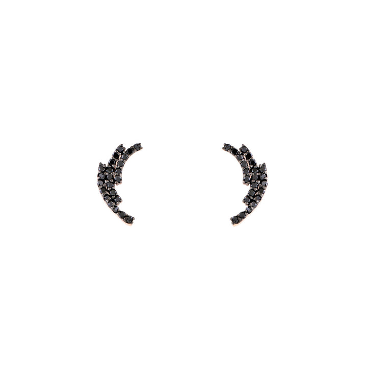 Image of Black Diamond Laurel Earrings