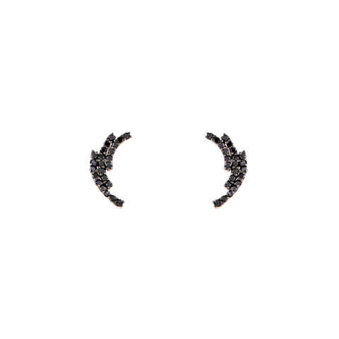 4927f33c0 Black Diamond Laurel Earrings - Phoenix Roze