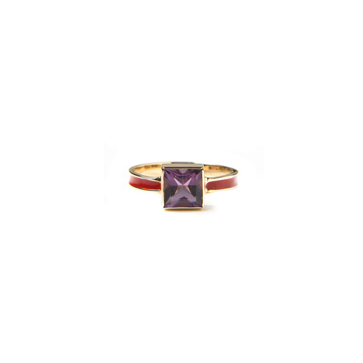 Image of Amethyst Enamel Ring