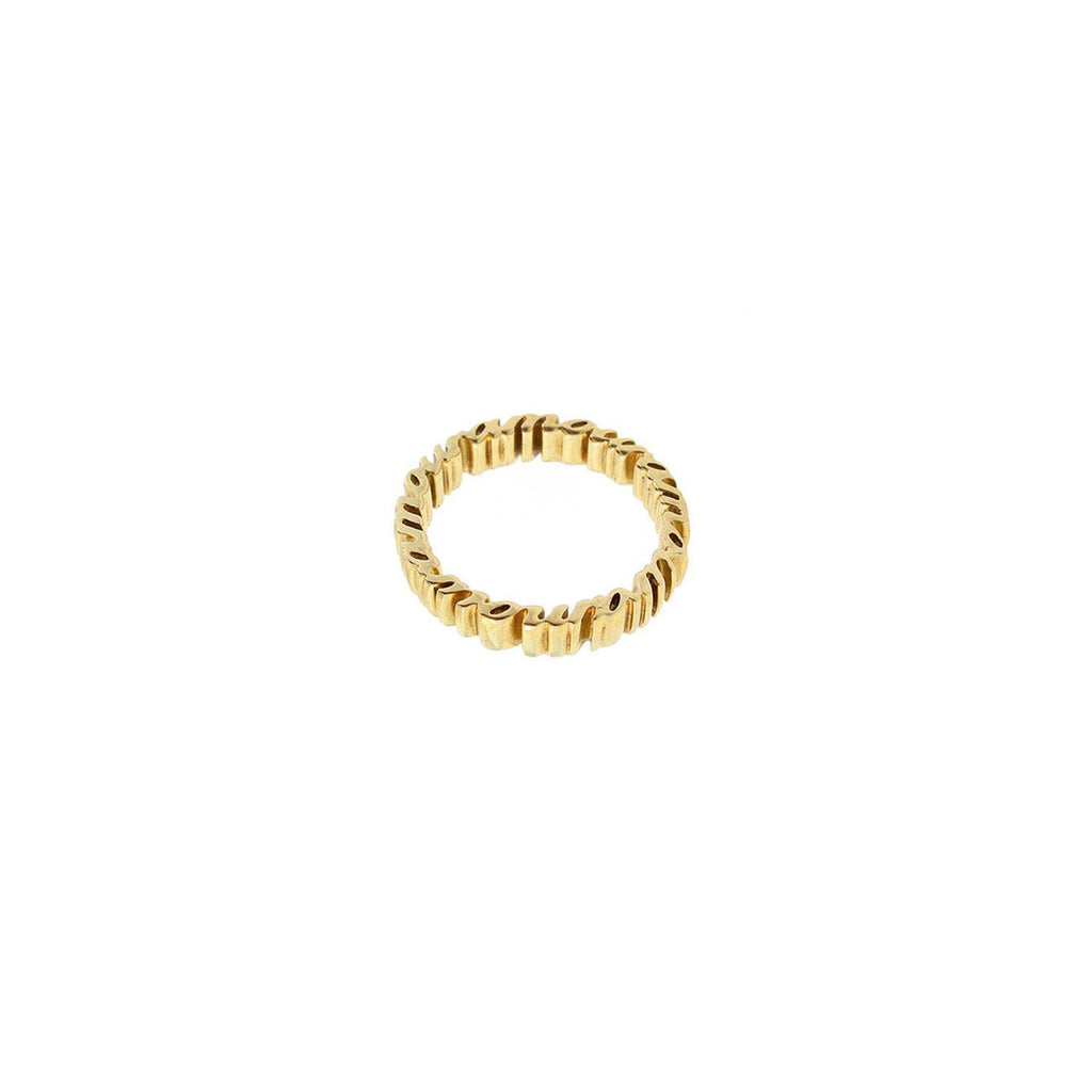 Gold mi amour word letter love ring