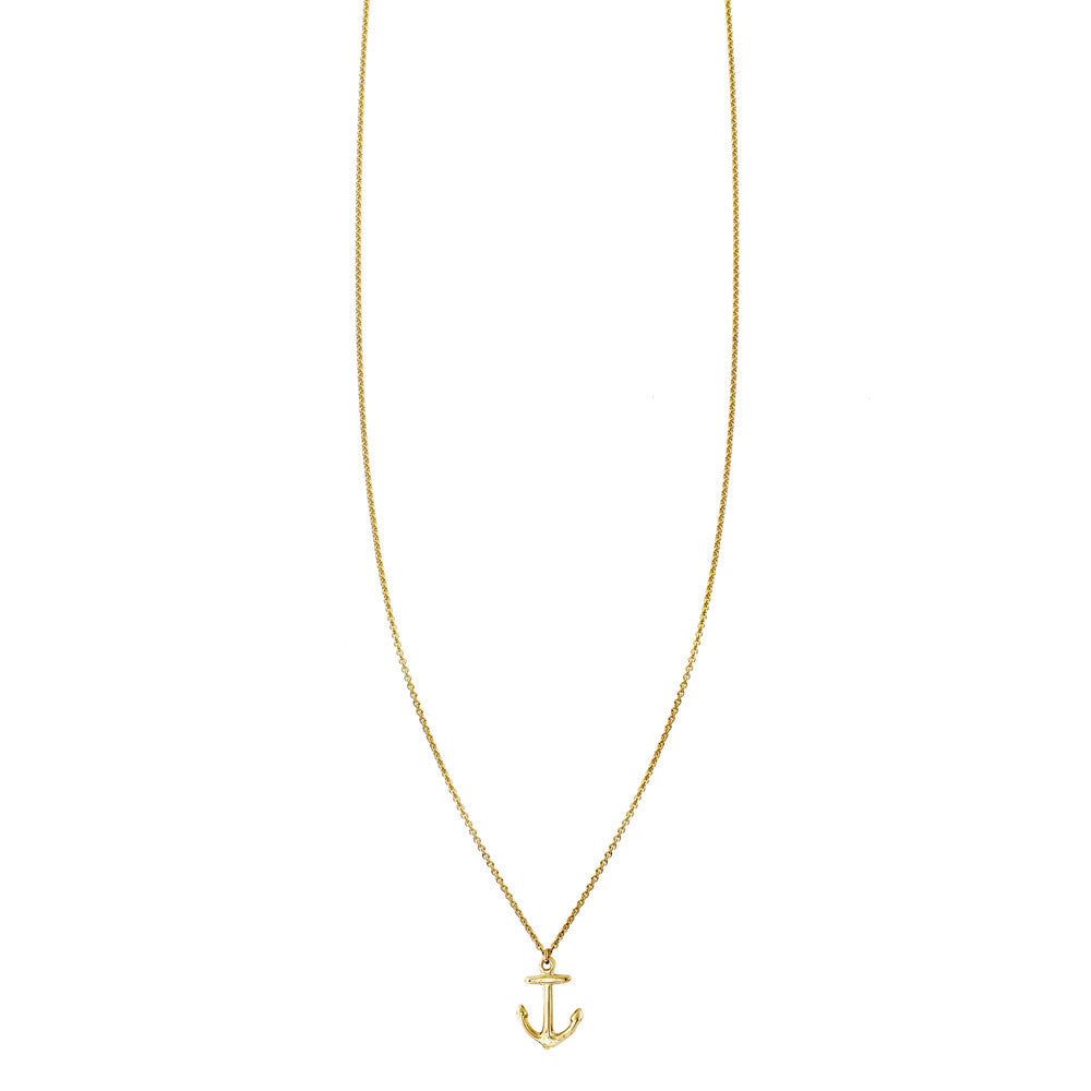 Gold Necklace With Anchor Charm