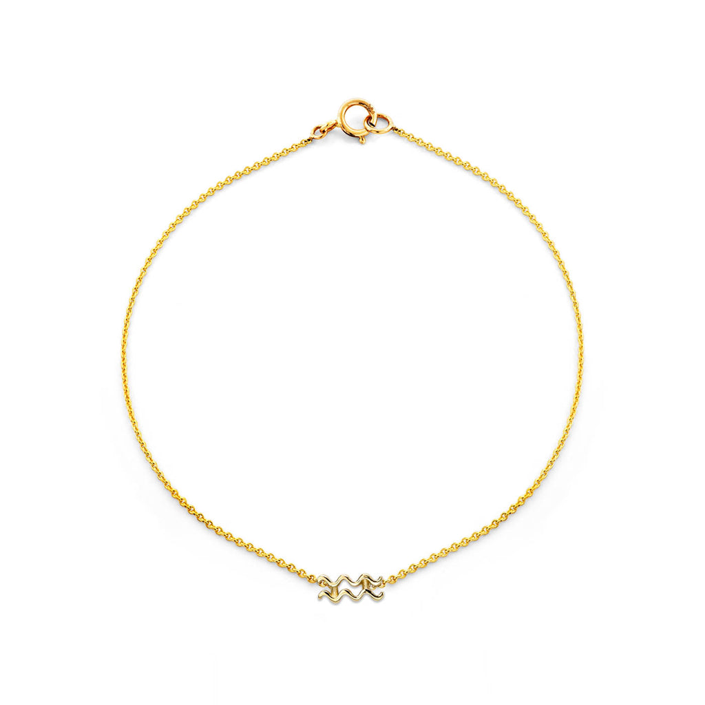 Image of Gold Aquarius Zodiac Bracelet