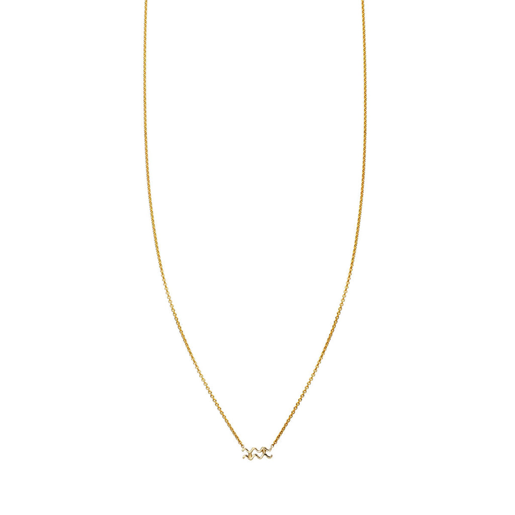 Image of Aquarius Gold Zodiac Necklace