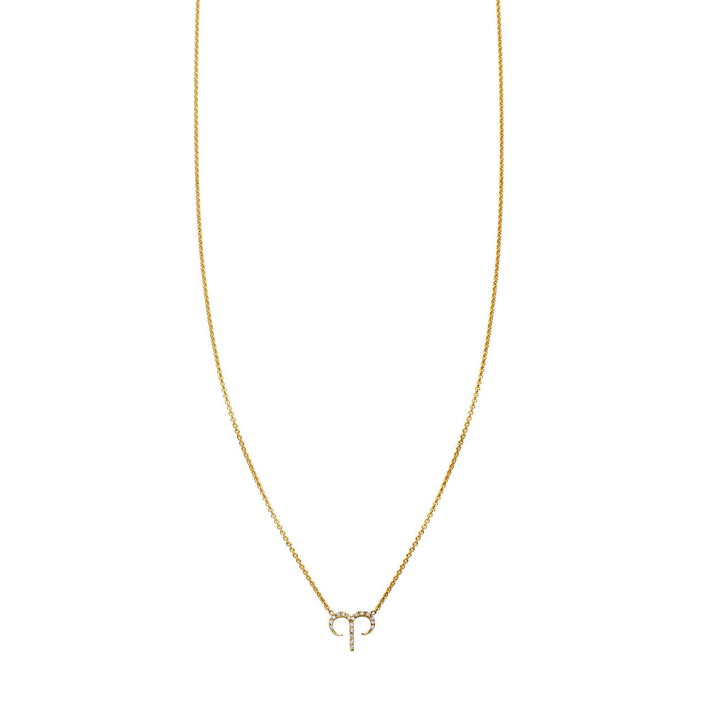 Image of Aries Diamond Zodiac Necklace