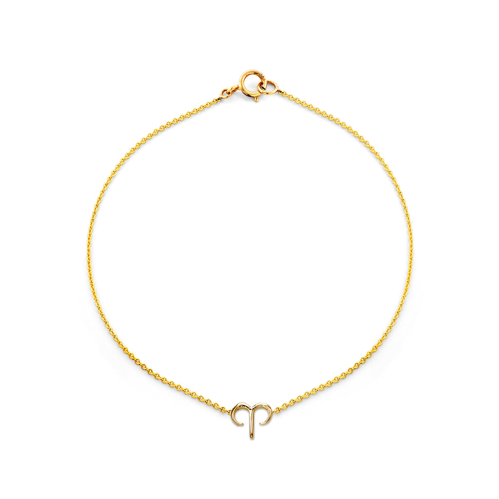 Image of Gold Aries Zodiac Bracelet