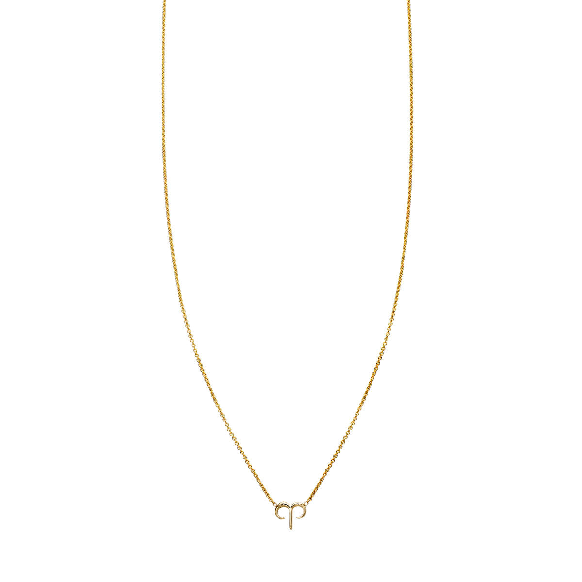 Image of Aries Gold Zodiac Necklace