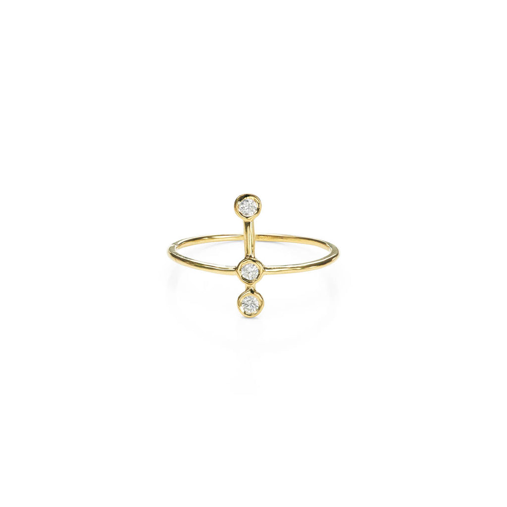 Astral Diamond & Gold Halo Ring