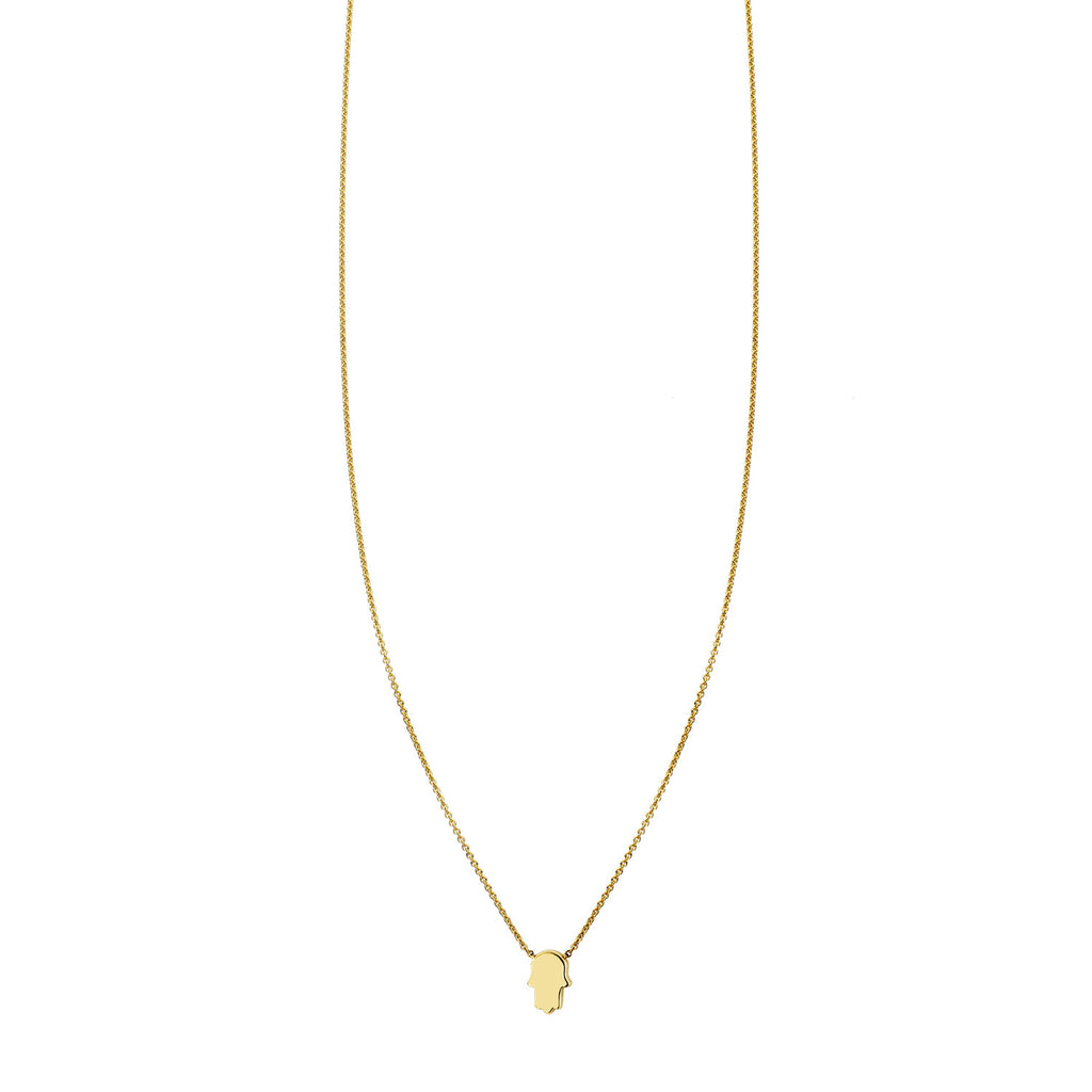 Tiny Hamsa Gold Necklace - Phoenix Roze