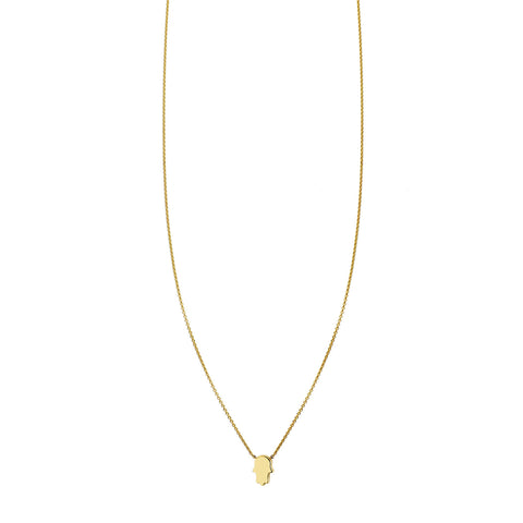 Tiny Hamsa Gold Necklace