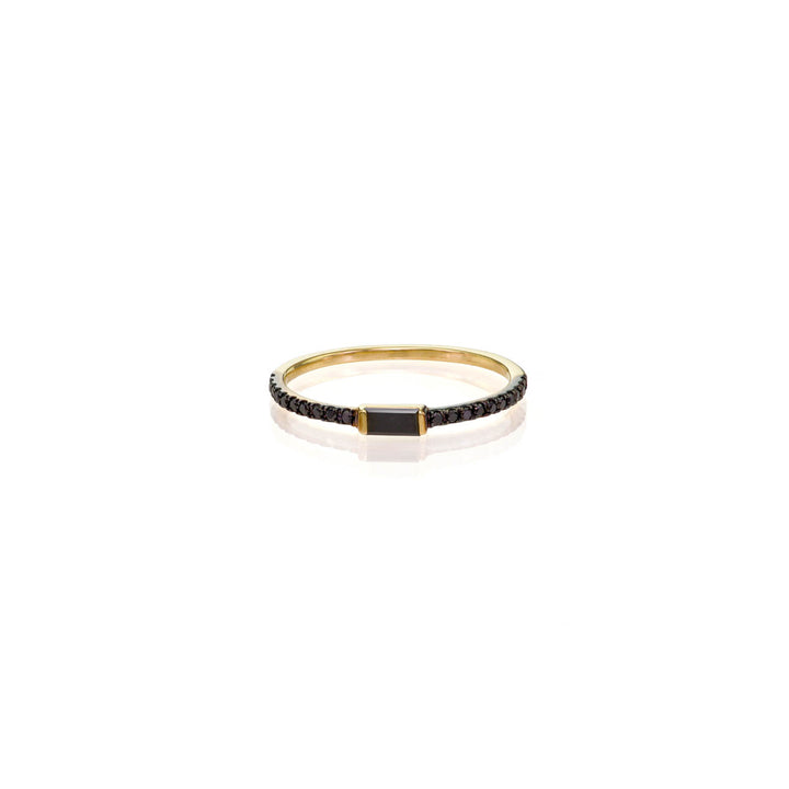 Image of Black Baguette Diamond Ring
