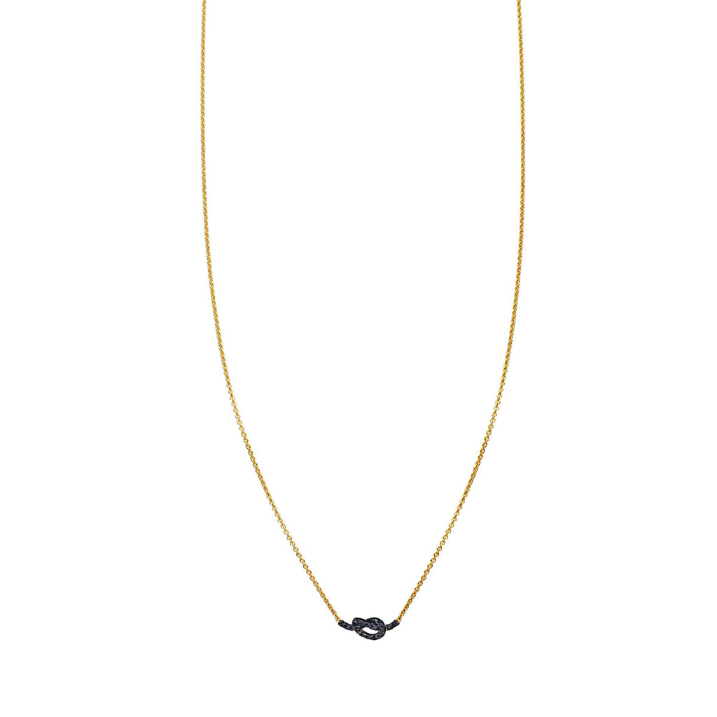 Black Diamond Love Knot Necklace