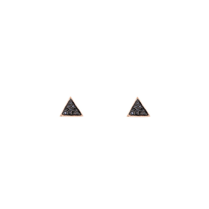 Image of Black Diamond Triangle Earrings