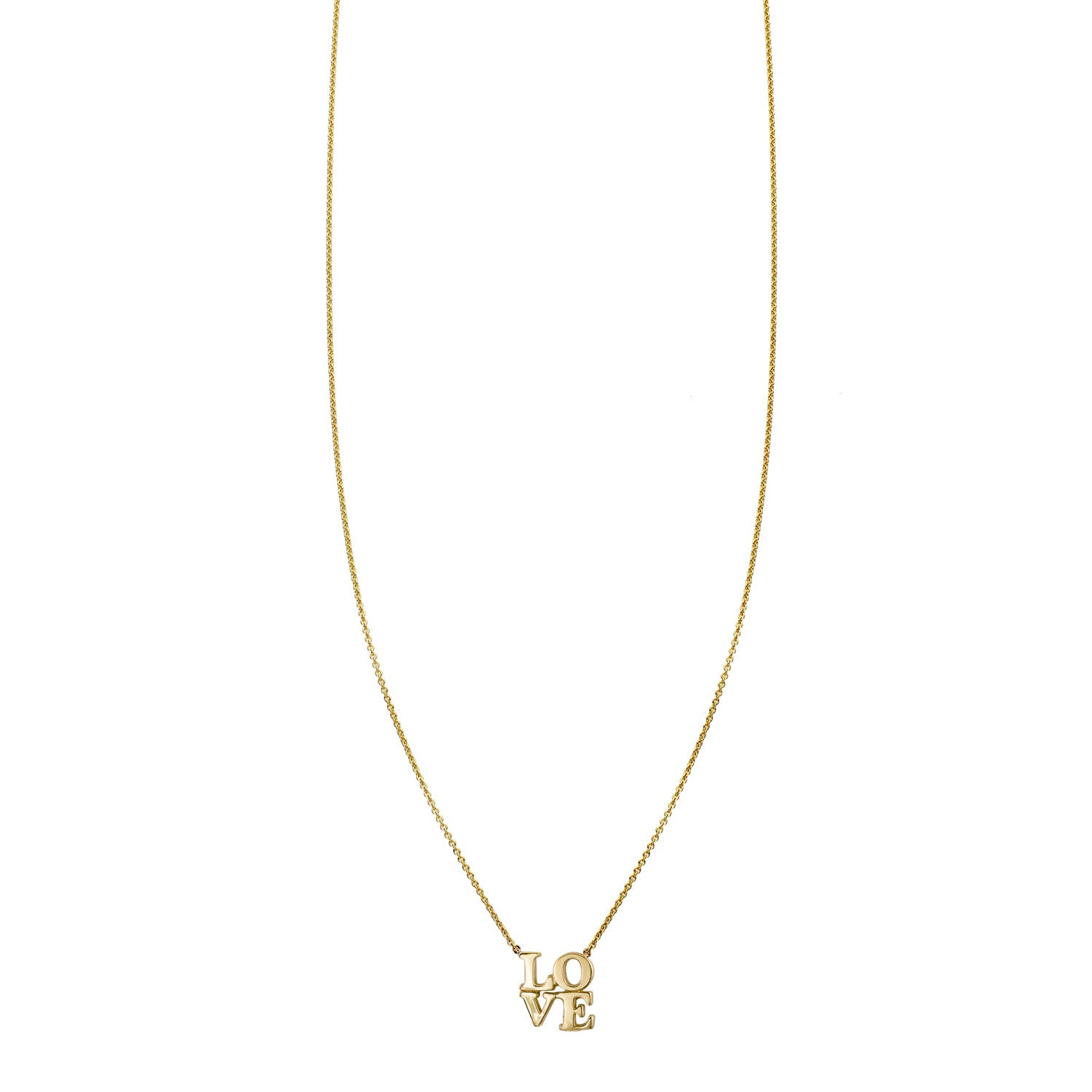 Image of a Block Love Gold Necklace