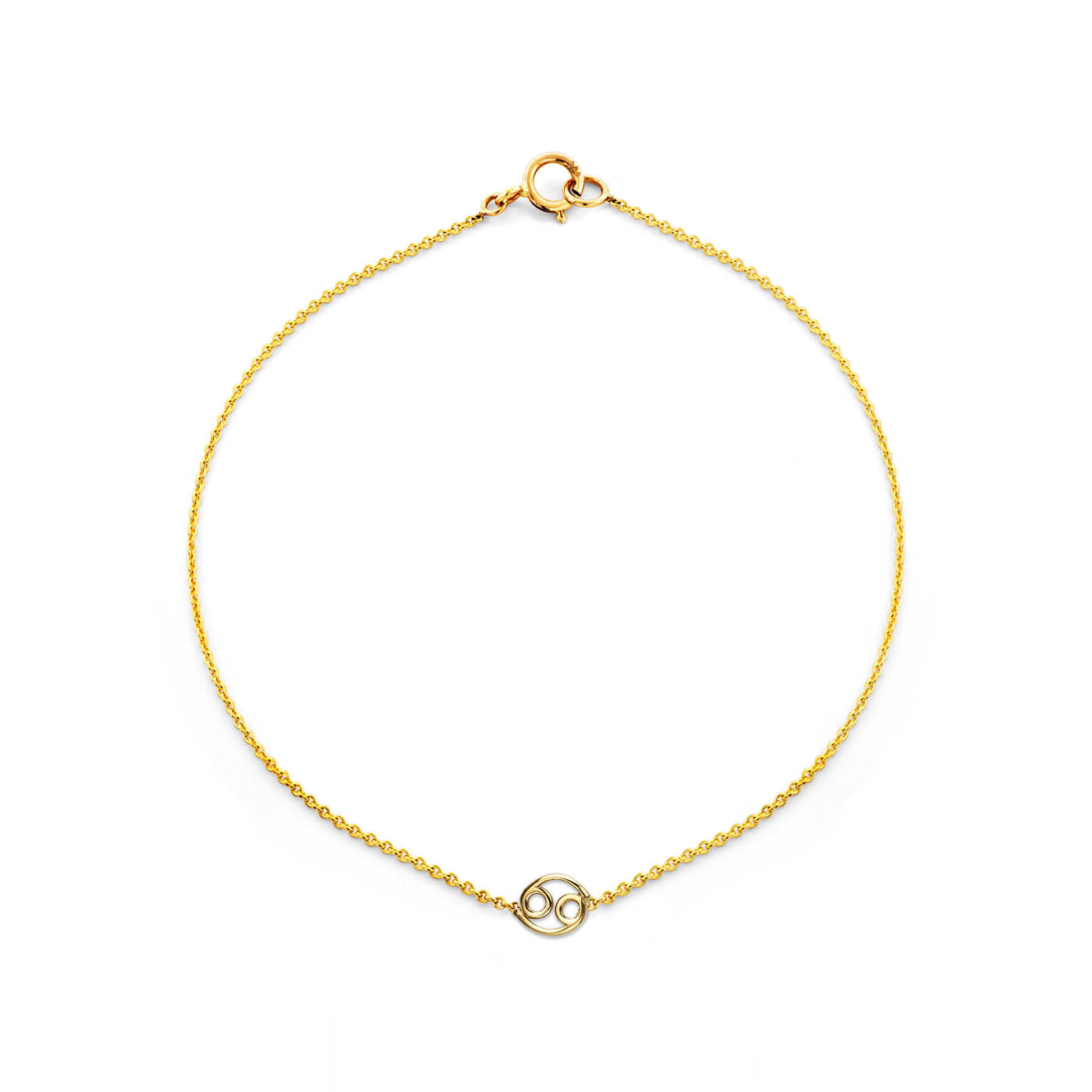 Image of Gold Cancer Zodiac Bracelet