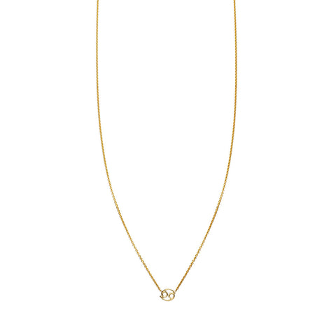Image of Cancer Gold Zodiac Necklace