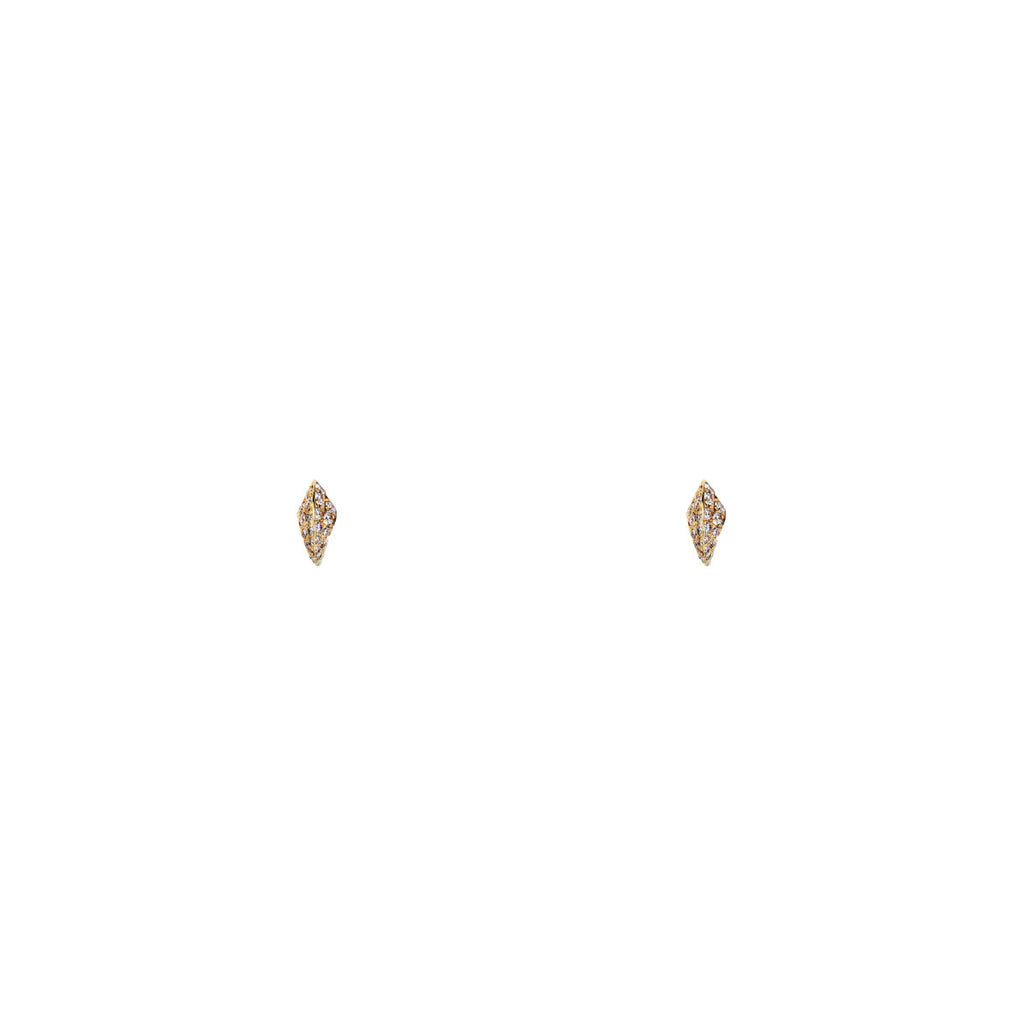 Image of White Diamond Cat's Claw Stud Earrings