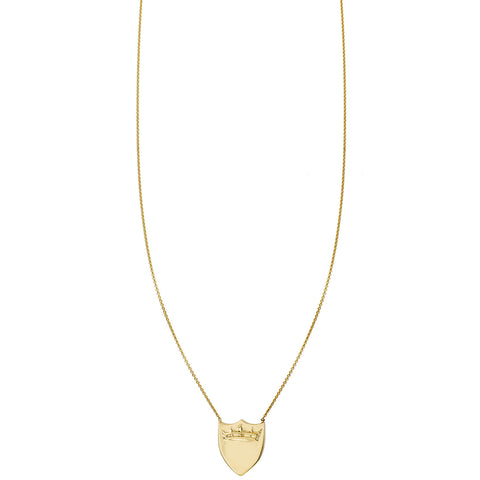 Crown Shield Gold Necklace
