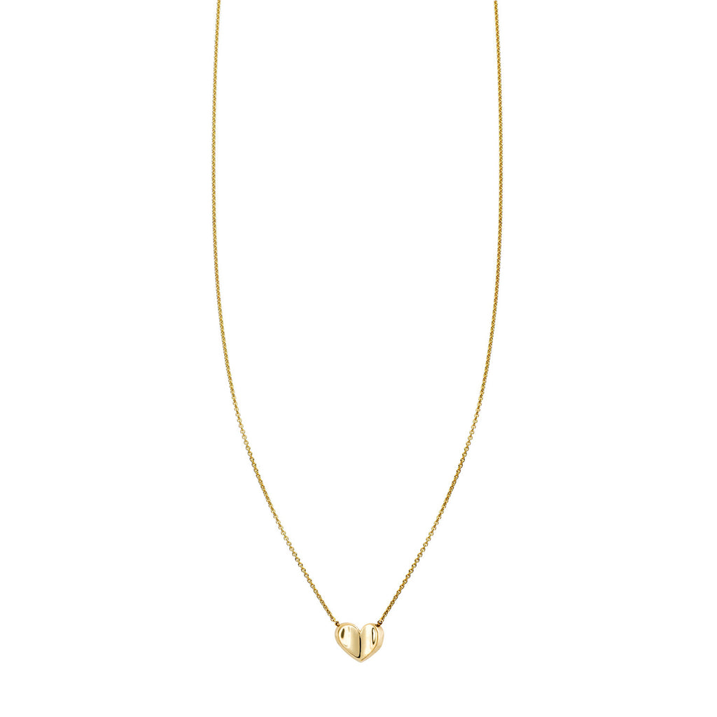 Small Folded Heart Gold Necklace - Phoenix Roze