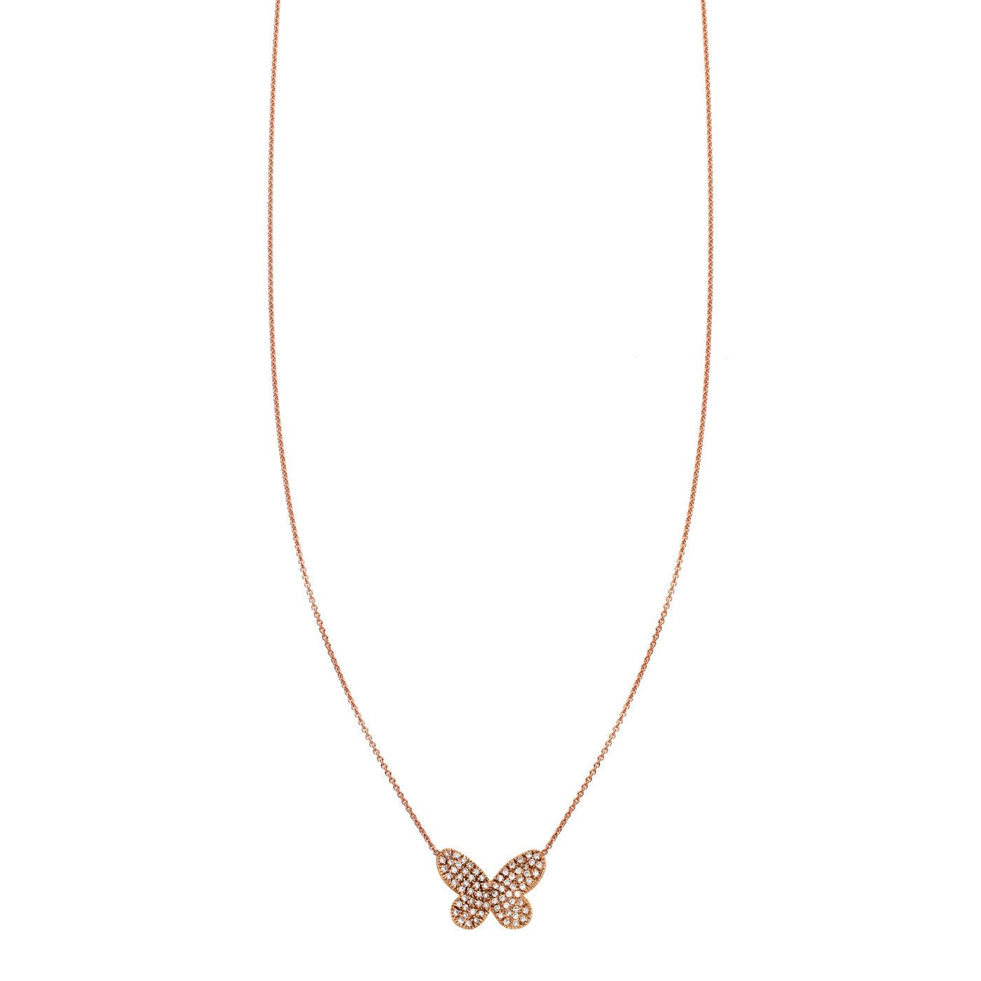 Image of Diamond Butterfly Pendant Necklace