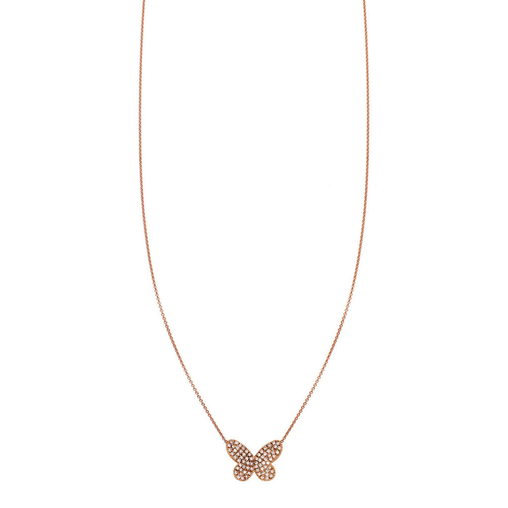 Diamond Butterfly Pendant Necklace