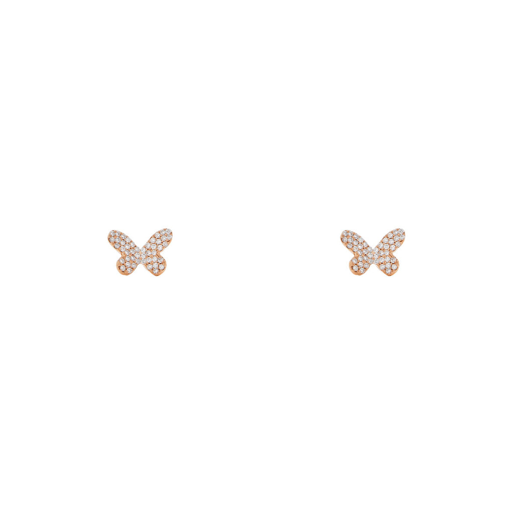 Image of Diamond Butterfly Stud Earrings
