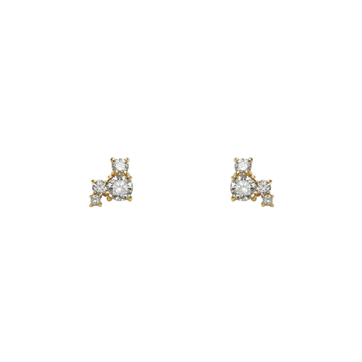 Image of Diamond Constellation Gold Earrings