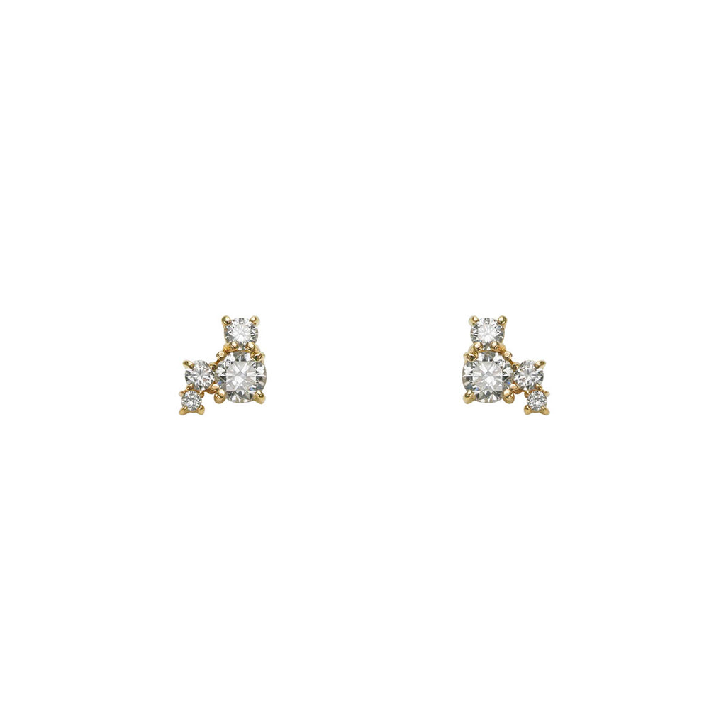 Diamond Constellation Gold Earrings