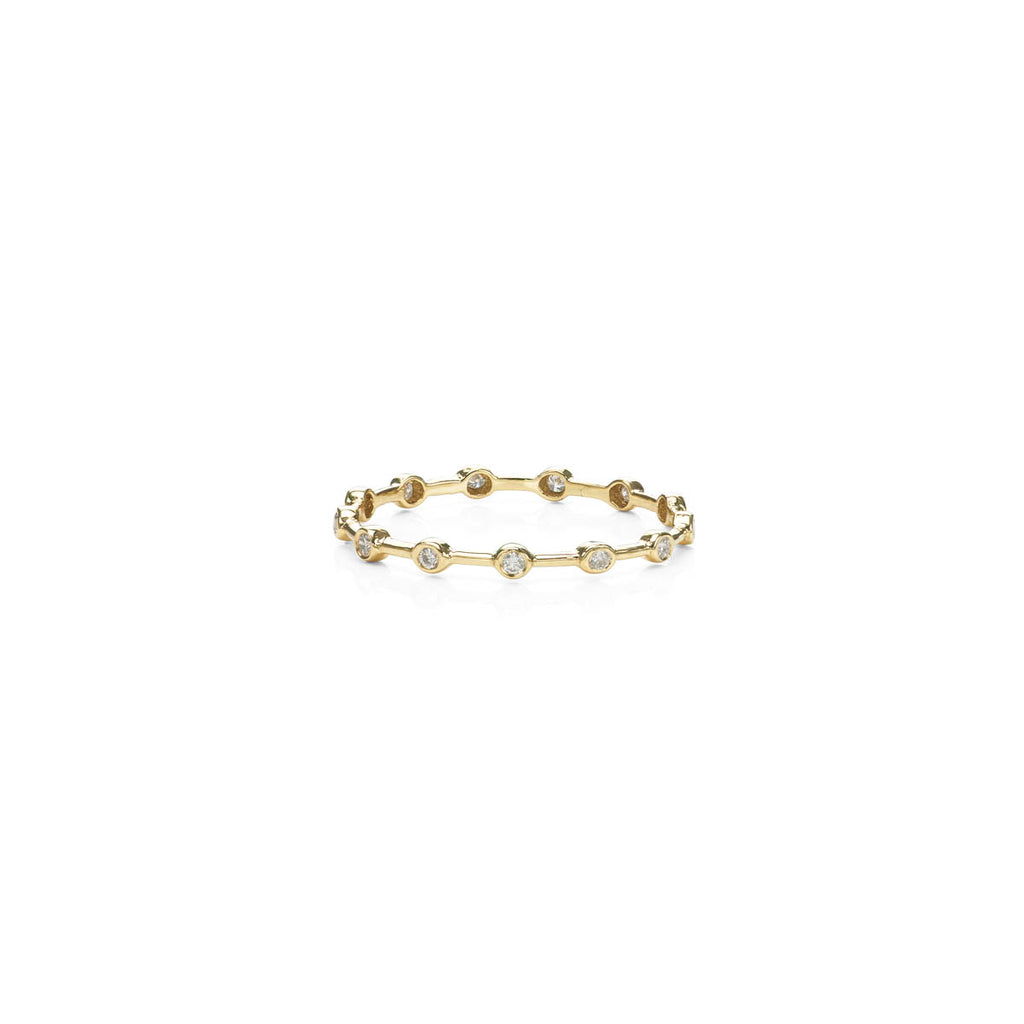 Diamond & Gold Infinity Halo Band