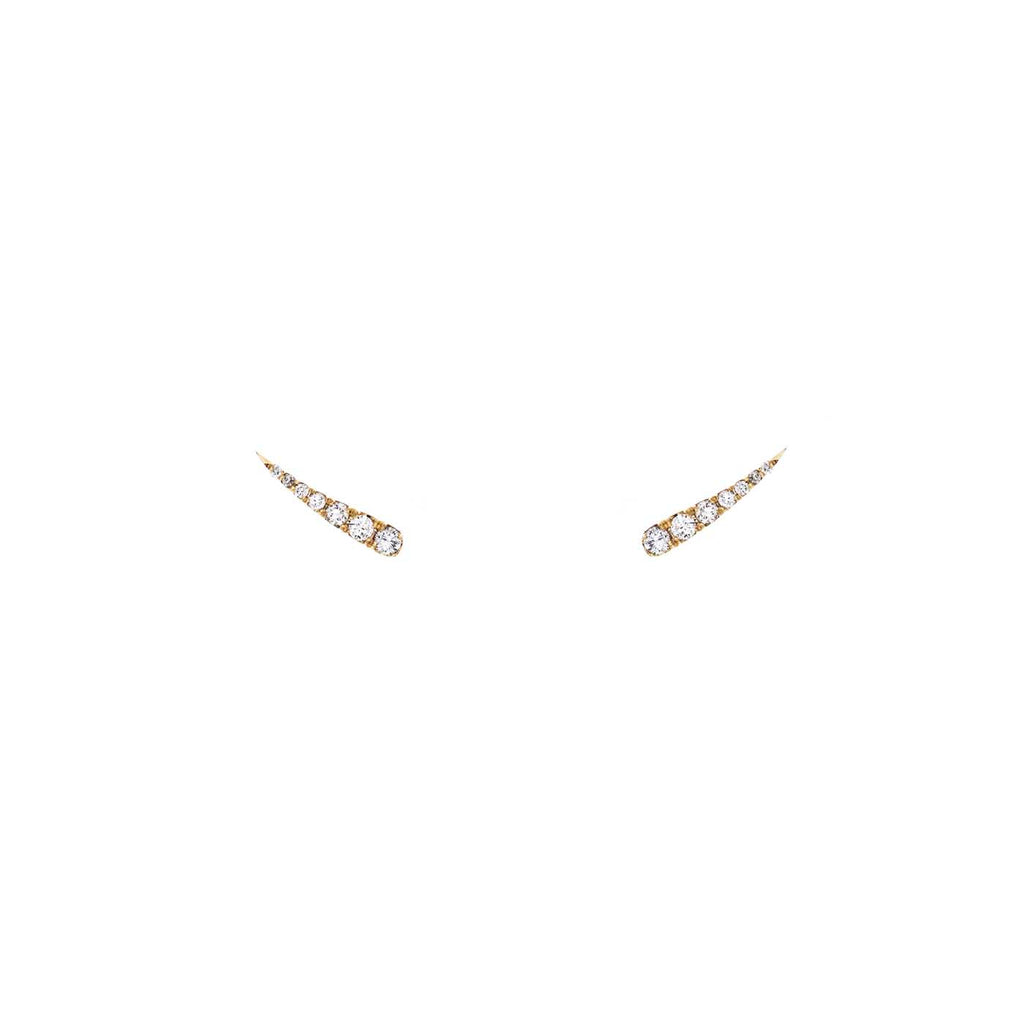 Pavé Diamond Eyelash Stud Earrings