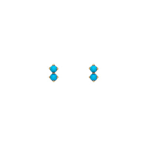 Double Bubble Turquoise Earrings