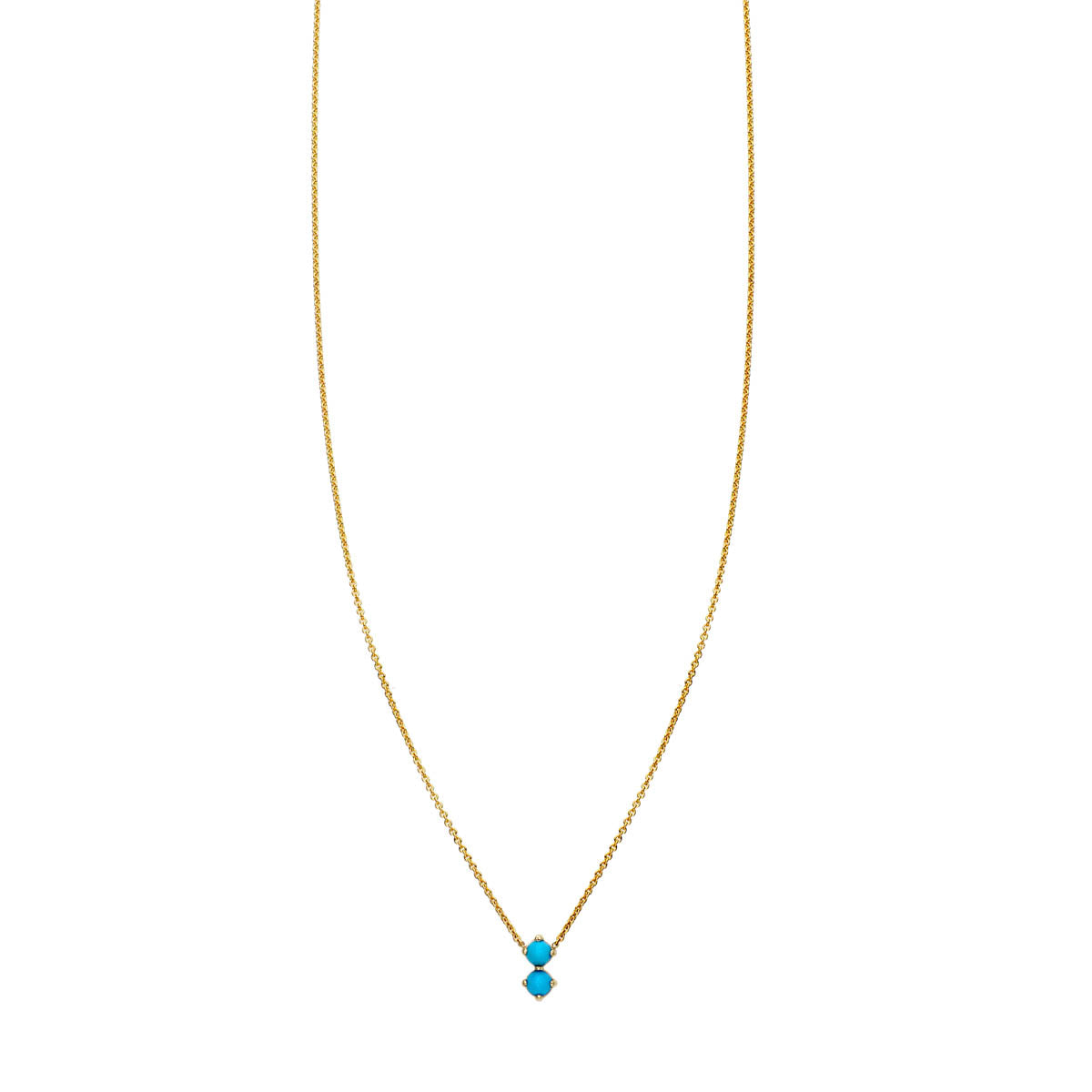 Image of Double Bubble Turquoise Necklace