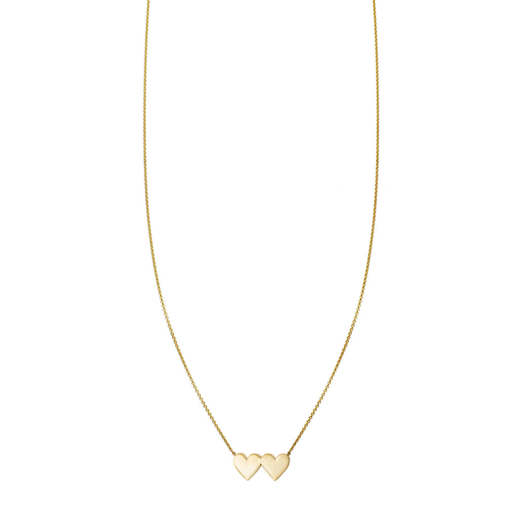 Image of a Double Heart Gold Necklace