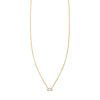 Designer emerald cut diamond bar necklace