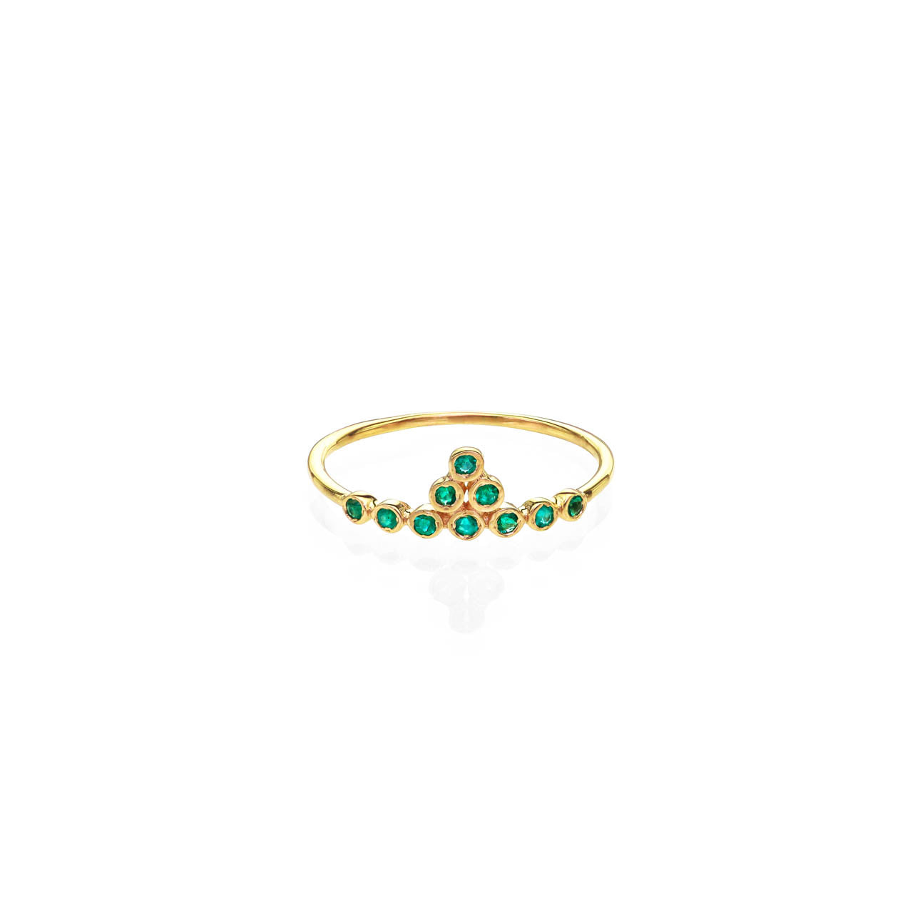Image of Emerald & Gold Tiara Ring