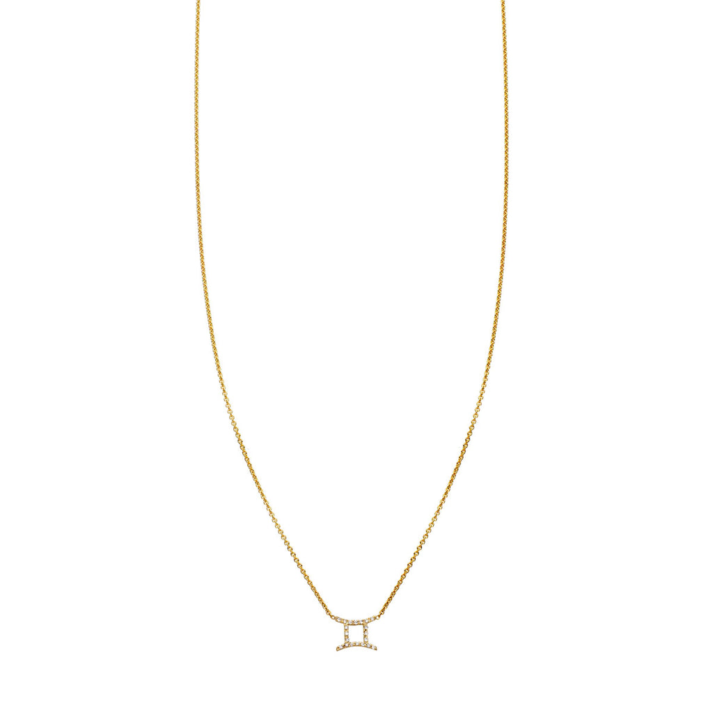 Image of Gemini Diamond Zodiac Necklace