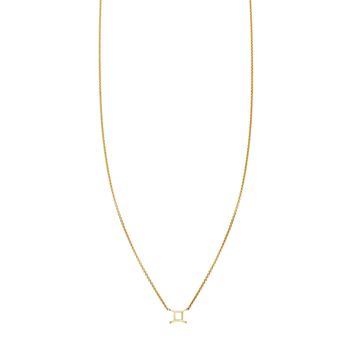 Image of Gemini Gold Zodiac Necklace