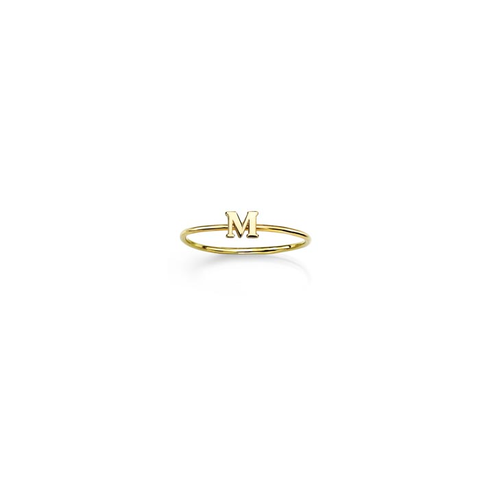 Image of gold initial ring.