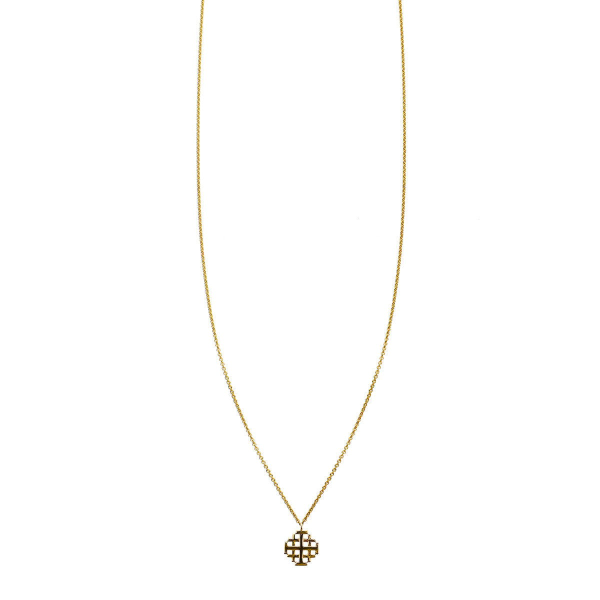 Jerusalem cross charm necklace phoenix roze designer jerusalem cross pendant charm aloadofball Images